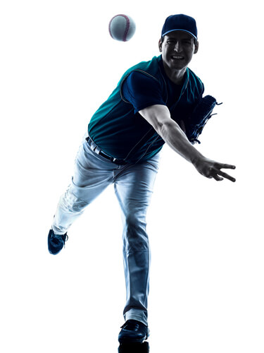 Baseball pitchers will commonly experience pain or injury on the elbow and shoudlers.
