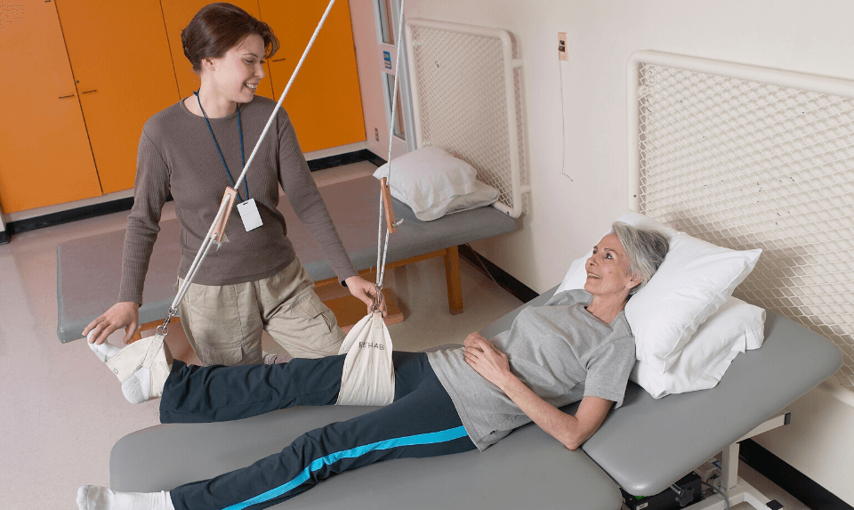 rehab in a physical therapy clinic